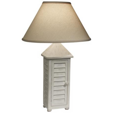 Shutter Me Shingles White Table Lamp by The Natural Light