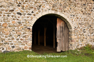 Arched Doorway of Historic Chase Stone Barn, Oconto County, Wisconsin