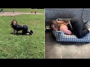 Americana ganha a vida se fazendo de cadela