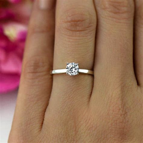 1/2 ct Promise Ring, Engagement Ring, Classic Solitaire