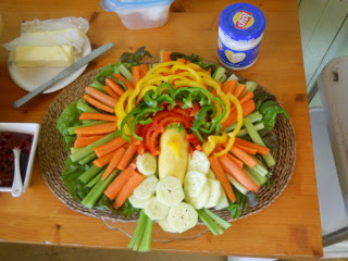 Creative Turkey Vegetable Plate