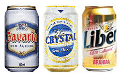 Foto com Cervejas sem álcool