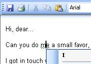 'Can you do me a small favor' suggests 'I' instead of 'me'