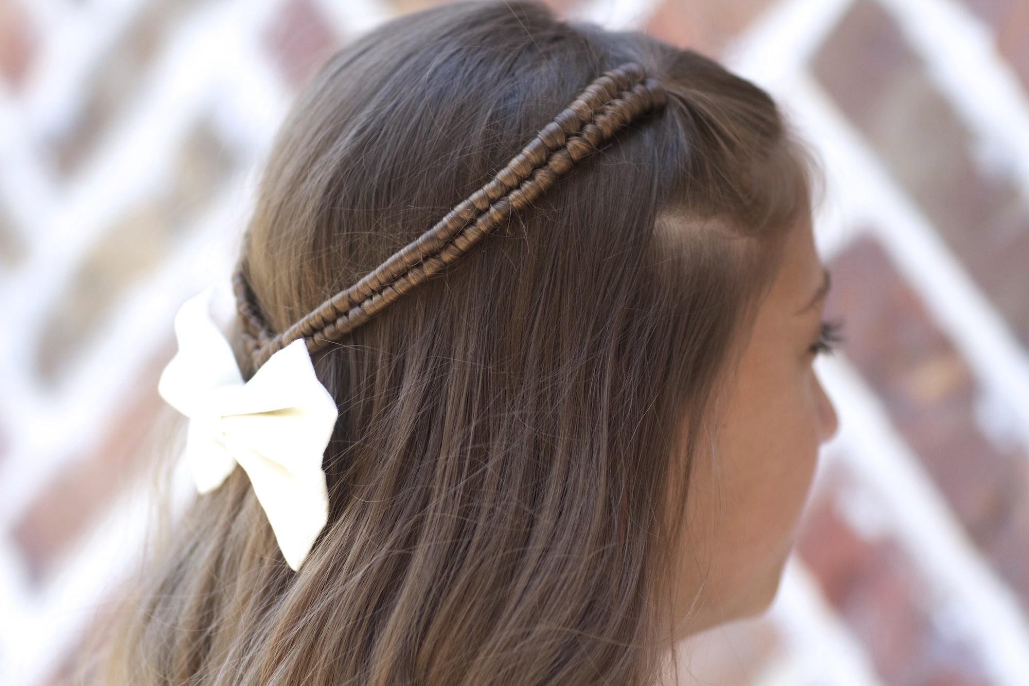 Infinity Braid Tieback   Back-to-School Hairstyles   Cute ...