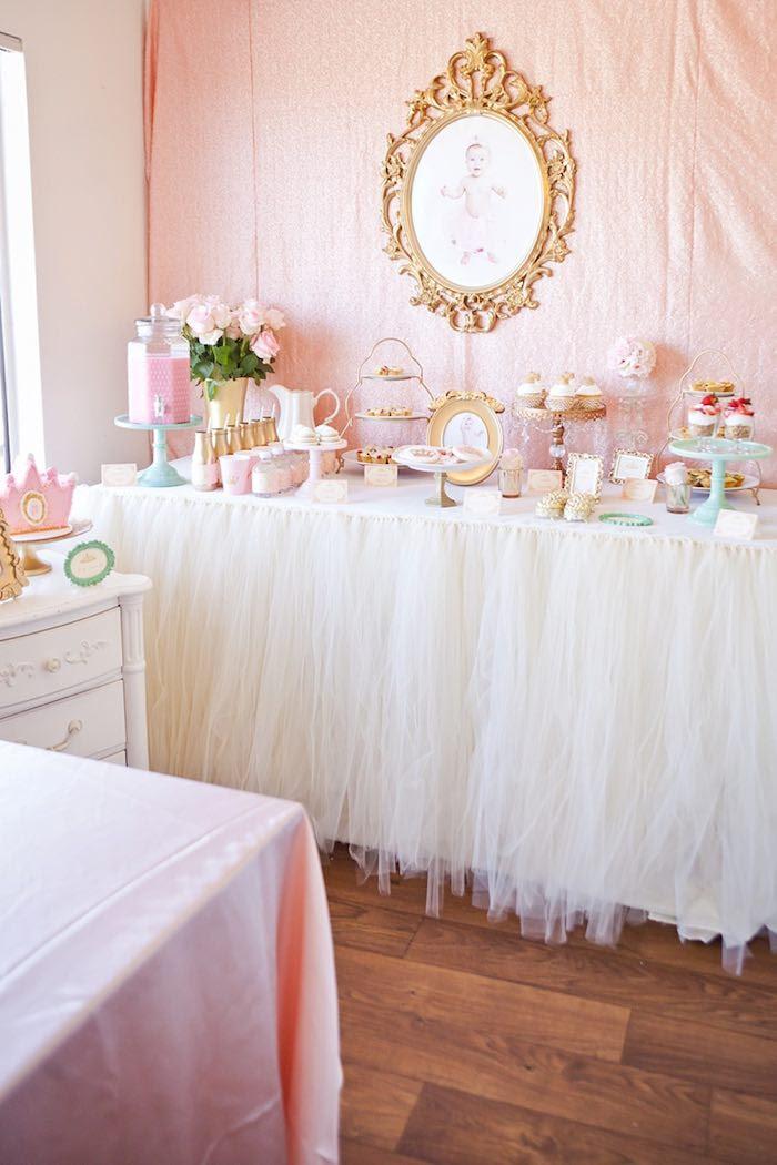 Karas Party Ideas Royal Princess 1st Birthday Party