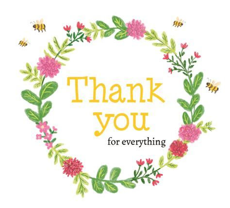 Thank You Flowers And Bees. Free For Everyone eCards