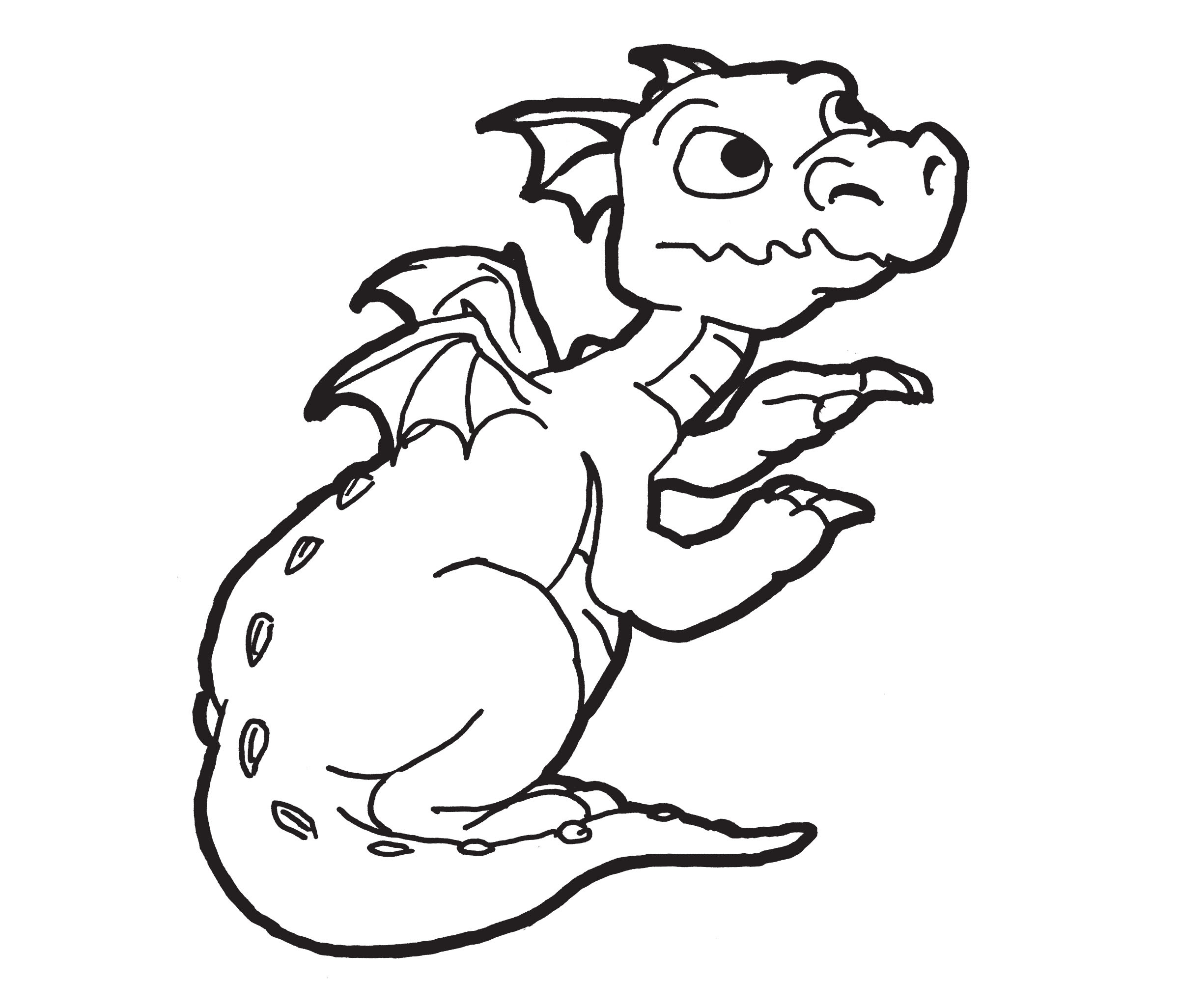 Chinese Dragon Coloring Pages For Kids Drawing With Crayons