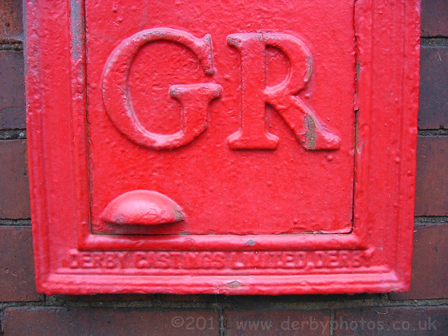 GR Wall Box at Willington Post Office, Derbyshire