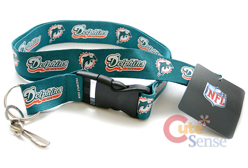 NFL Miami DolphinsLanyard Key Chain ID Ticket Holder