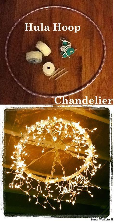 Best 25  Hula Hoop Chandelier ideas on Pinterest   Hula