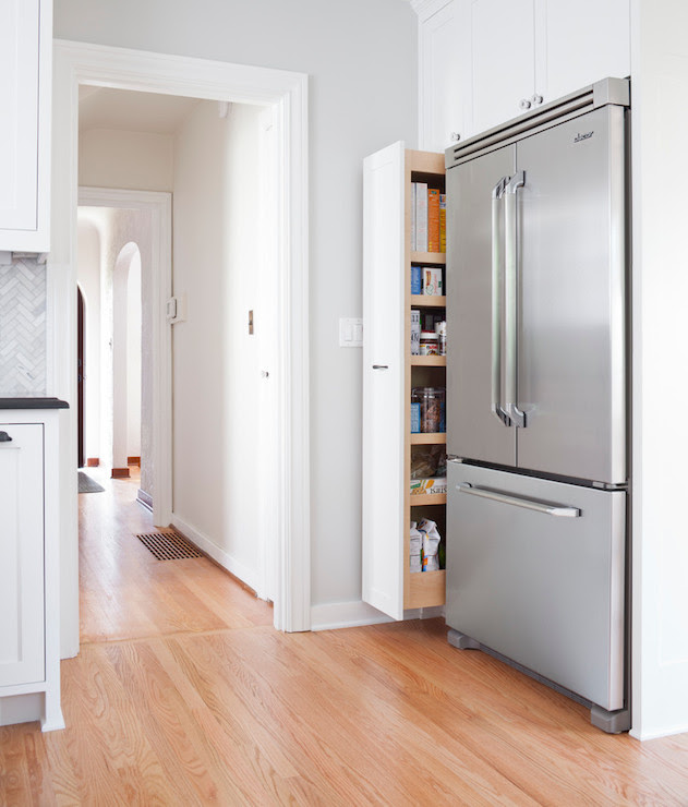 Pull Out Pantry Cabinet - Transitional - kitchen ...