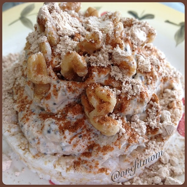 Ripped Recipes - Peanut Butter Apple Cinnamon Rice Cake