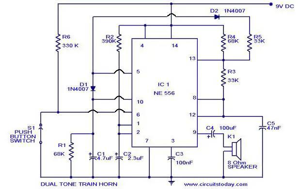 horn sound generator circuit circuit diagram images federal pa300 siren wiring diagram police siren wiring diagram #12