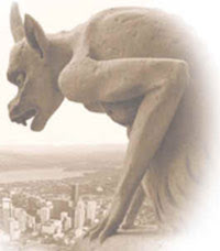 Photo of a Gargoyle, or perhaps, a representation of humanity's collective memory of the 'GODS' who once walked among us.