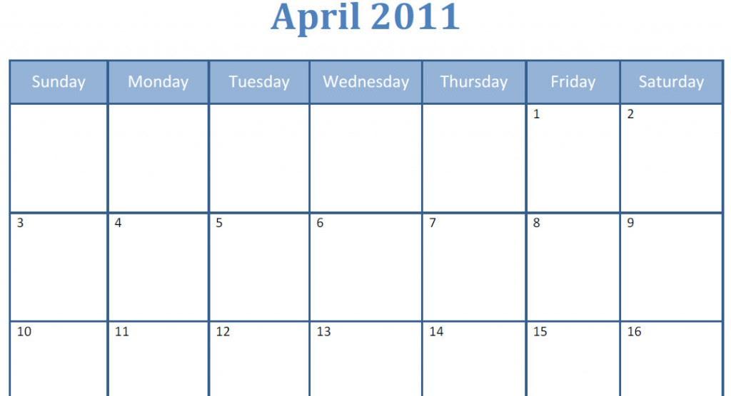 april 2011 calendar printable with holidays. printable april 2011 calendar