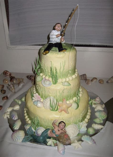 Example of a really unique wedding cake topper. This bride