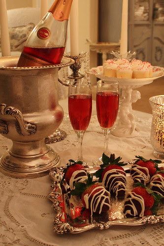 champagne and strawberries by Romantic Home