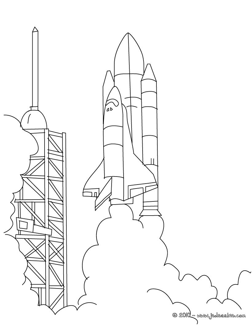 rocket space drawing - 736×920