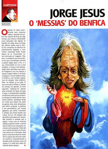 Jorge Jesus, o Messias do Benfica by caricaturas