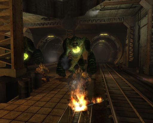 Computer Game on London Underground - Hellgate:London Screengrab 2