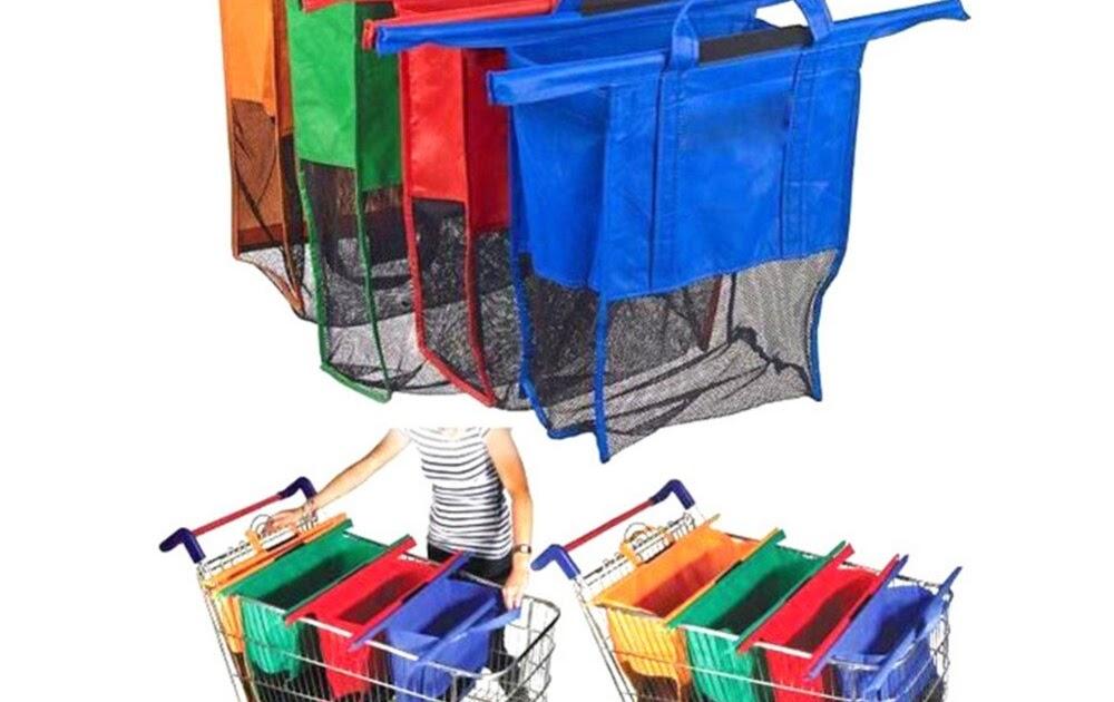 e714d687b08a Comprar Sacos De Compras Carrinho Supermercado Reutilizável Dobrável Grab  Eco Saco Tote Handbags 2018 4 Pçs set Baratas Online Preço ~ buydeckbox