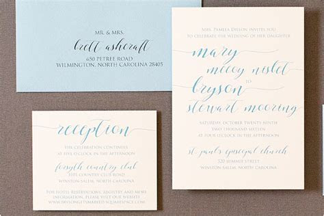 Handwritten Wedding Invitations   Gourmet Invitations