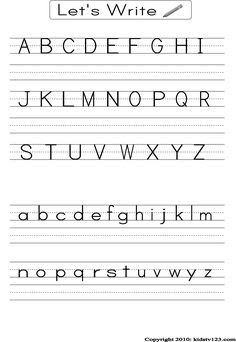Free Santa capital letter writing practice page. Terrific for ...