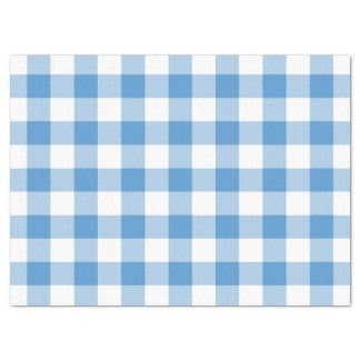"Light Blue and White Gingham Pattern Tissue Paper 17"" X 23"" Tissue Paper"