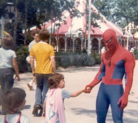 the six flags guy. the Six Flags Spider-man,