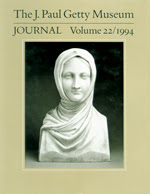 The J. Paul Getty Museum Journal: Volume 22/1994