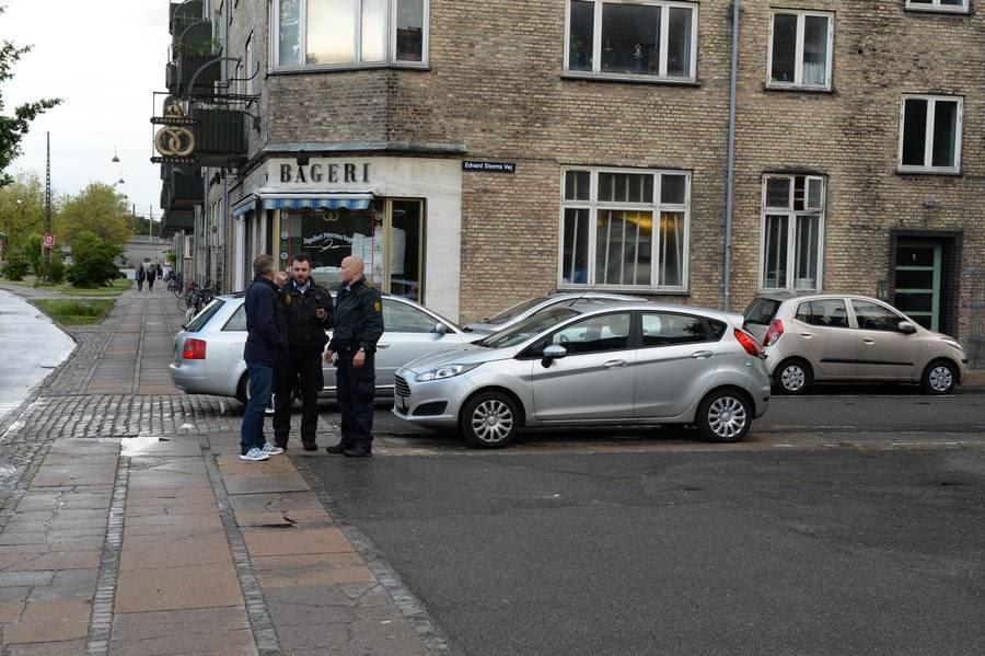 En betjent blev sidste sommer stukket ned på Enghavevej i København. Foto: Kenneth Meyer