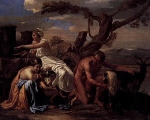 Ο Δίας και οι τροφοί του – Nicolas Poussin (1638)