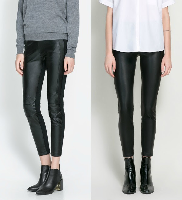 pantalones polipiel Zara