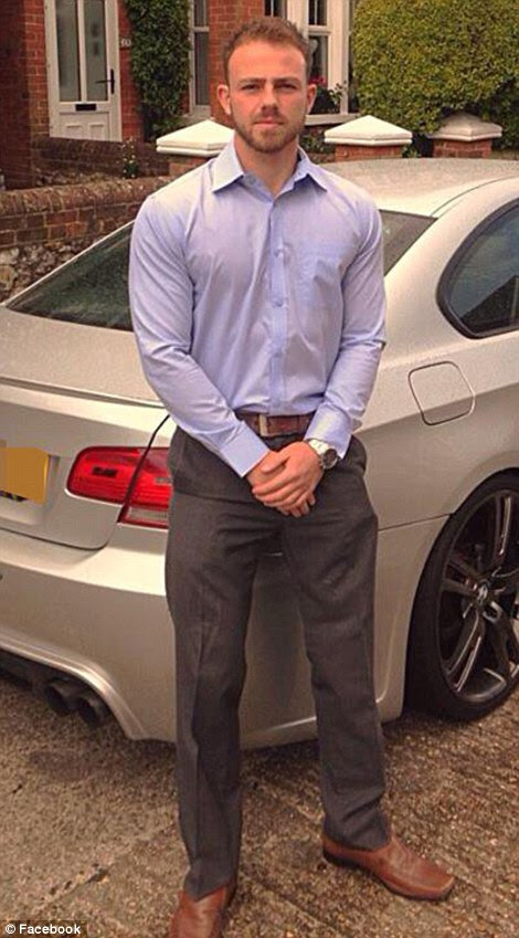 Victim: Personal trainer Matt Jones was giving a friend a lift when he was killed in Shoreham, in the car behind him