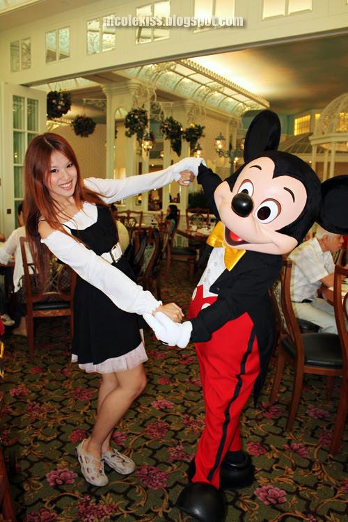 mickey and i at disney hotel breakfast