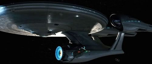 The starship Enterprise.