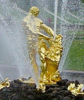 Самсоон — центральный фонтан дворцово-паркового ансамбля «Петергоф»