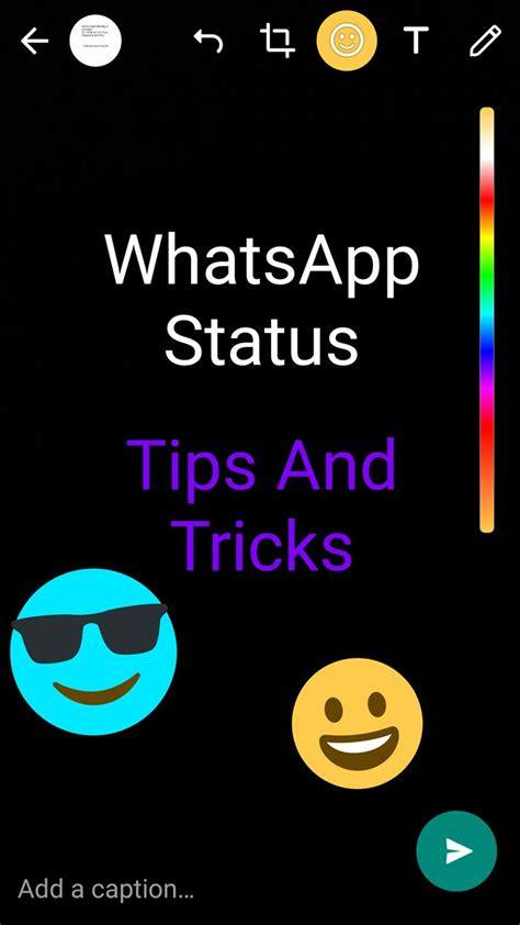 cool  whatsapp status tips  tricks