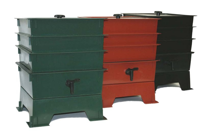 The Worm Factory Composting System 4 Tray Black