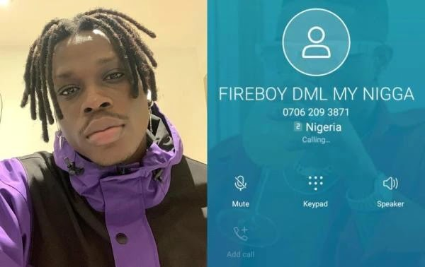 Gist: Fireboy Drops His Personal Phone Number On Social Media – Fans Go Crazy As They Connect To Him