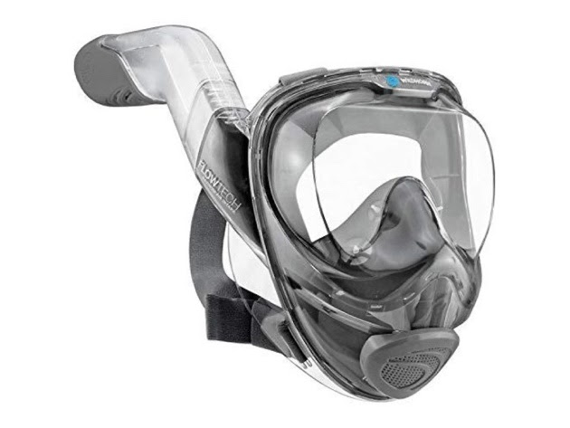 WildHorn Outfitters Safe Seaview 180° V2 Full Face Snorkel Mask, Large - Citrus for $70