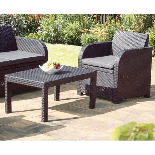 Buy Carolina Graphite Grey Rattan Garden Set with Cushions ...