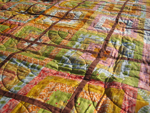 """Detail of """"Block party"""" quilt"""