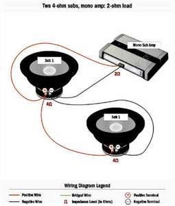 4 ohm subwoofer wiring diagram mono 3 dvc image 10