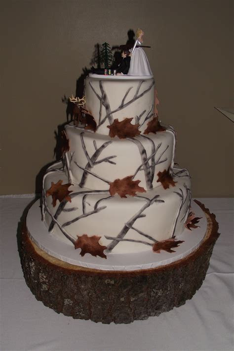 Winter Camo Wedding cake   I created this for my brother's