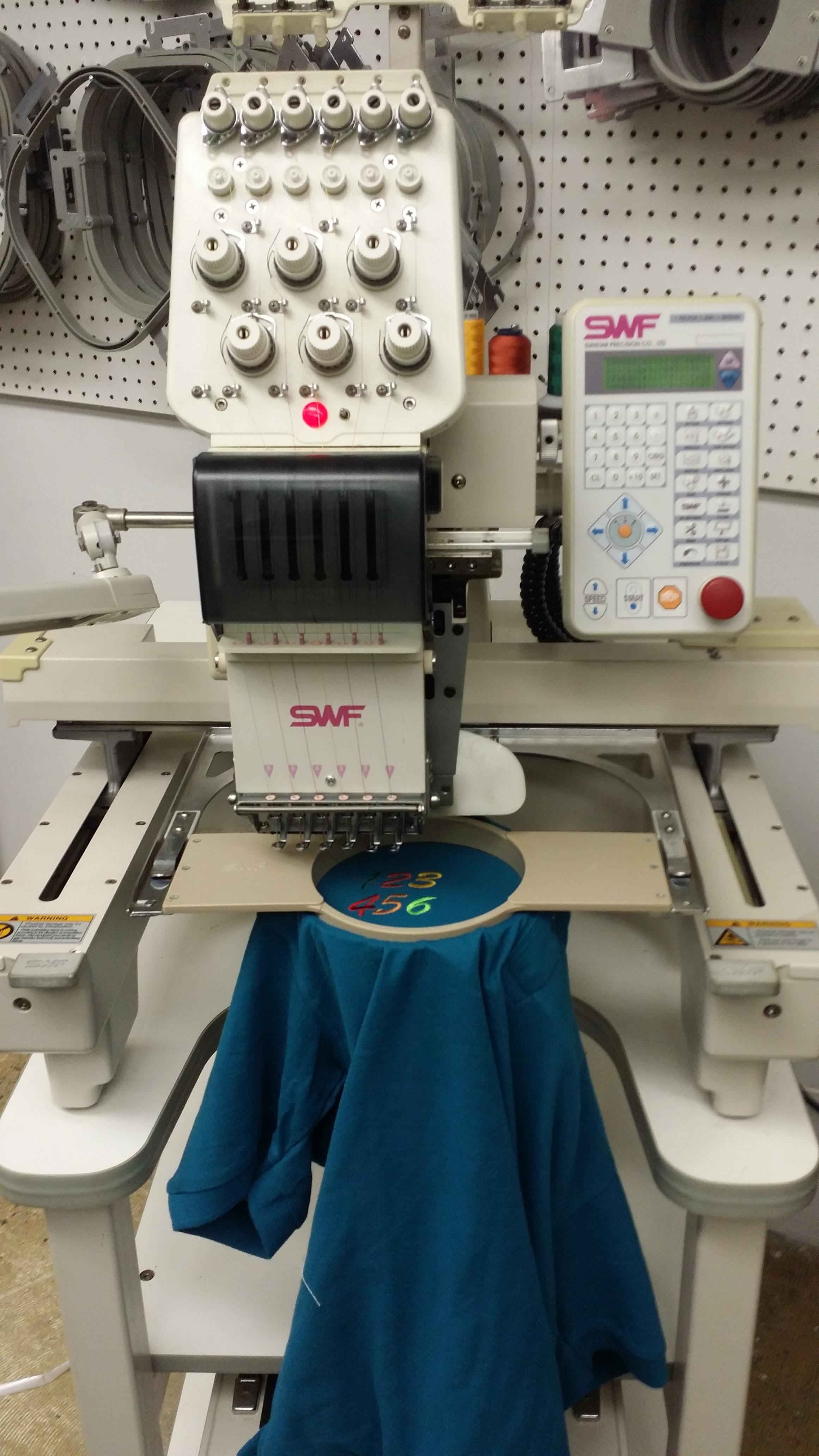 SWF/B-601C single head embroidery machine 6 needles