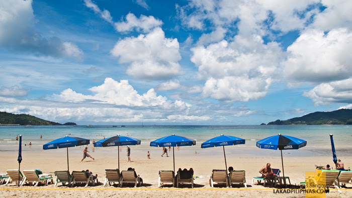 Blue Skies at Phuket's Patong Beach