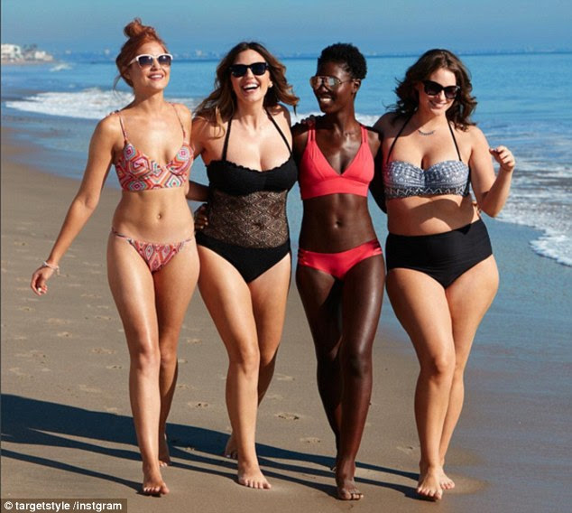 Setting an example: The women featuring in the original campaign have very different body shapes