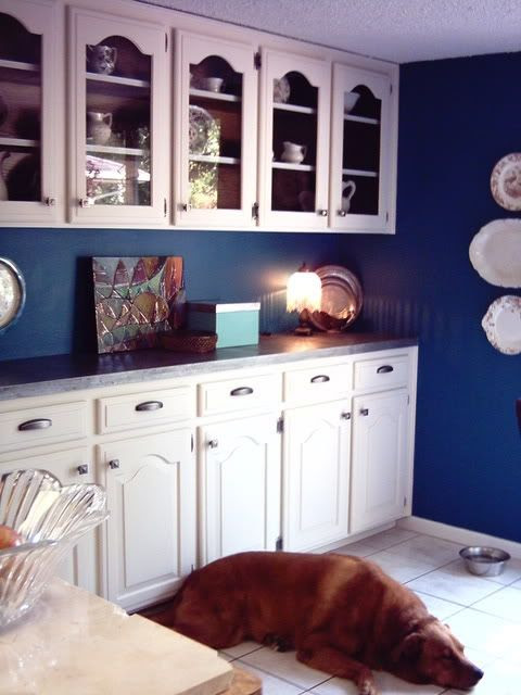 Beautiful cobalt blue and white kitchen   For the Home ...