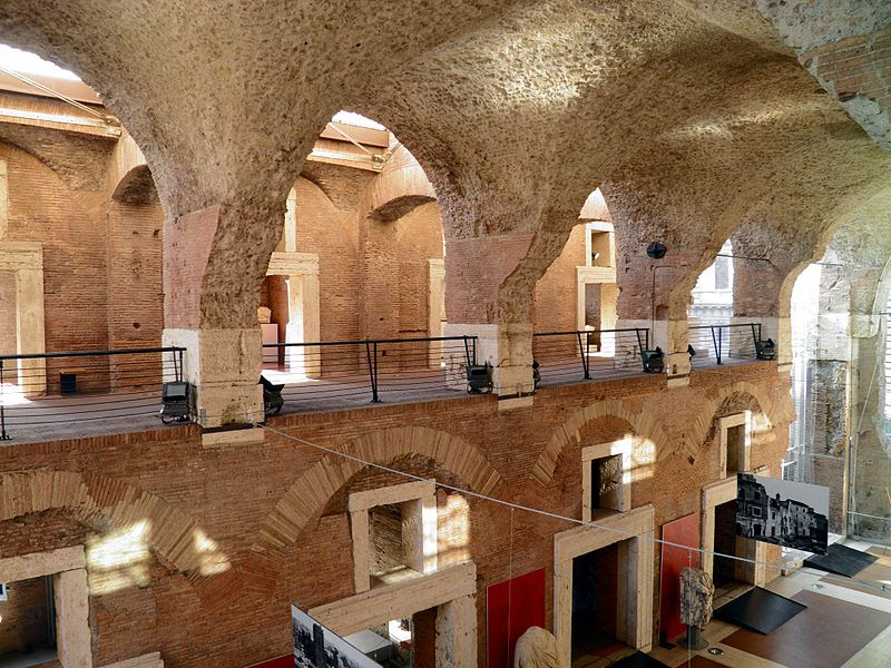 Inside Trajans Forum, Museo dei Fori Imperiali, Rome (8070768329).jpg